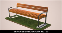 3d max benches garden city