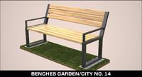 benches garden city obj