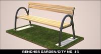 benches garden city 3d obj