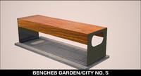 city bench garden max