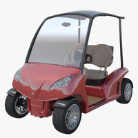 3d model luxury golf cart garia