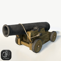 3d model vessel cannon