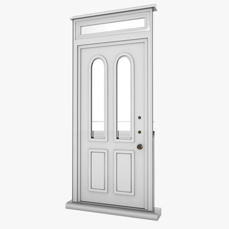 White Door Glass House Obj
