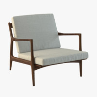 3d model danish modern selig lounge chair