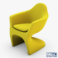 3d lotem chair yellow