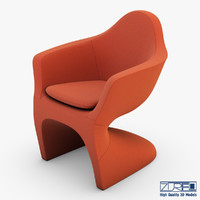 lotem chair bittersweet 3d model