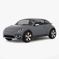 volkswagen beetle 2016 simple 3d 3ds