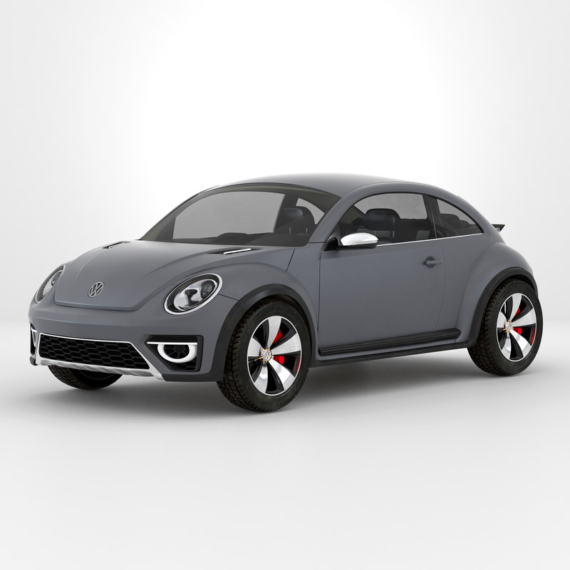 Volkswagen Beetle 2016 Simple Interior 3d model 02.jpg