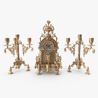 mantle clock 3d max