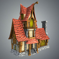 fairytale house games 3d obj