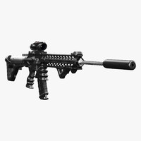 assault rifle ar-15 3d model