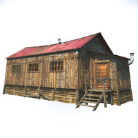 3d max wooden barn house
