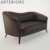 3d arteriors duprey settee sofa