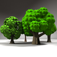cartoon trees 3ds