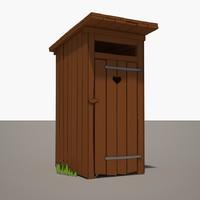 3d cartoon latrine