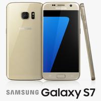 3d model of samsung galaxy s7 gold