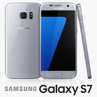 3d model samsung galaxy s7 silver