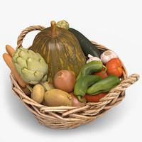 3d model of vegetables 01