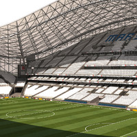 3d model stade marseille soccer