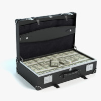 briefcase money 3d max