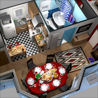 interior cartoon 3d ma