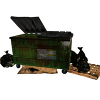trash dumpster 3d model