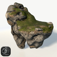 3d model floating island cave