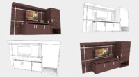 Wall TV with Cabinet