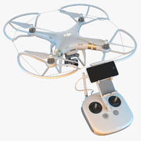 3d model dji phantom 3 quadrocopter