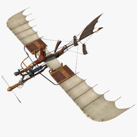3d model rigged flying bicycle