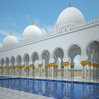 arabic hallway hall 3d model