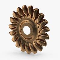 3d model water turbine
