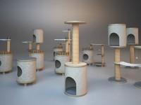 3d cat tree 2 model