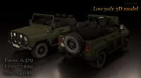 Uaz loy-poly game 3d model