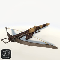 crossbow bow cross 3d max