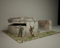 german bunker 3d c4d