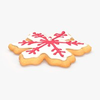 3d snowflake cookie
