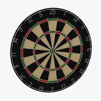 dart board 3d c4d