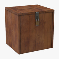 classic ballot box 3d model