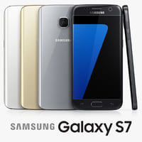 samsung galaxy s7 colors 3d model