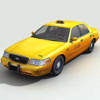 3d max taxi cars