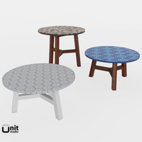 3d model mosaic coffee tables west