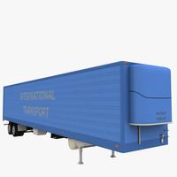 3d model semi trailer