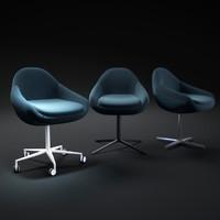 ripple-armchair 3d obj