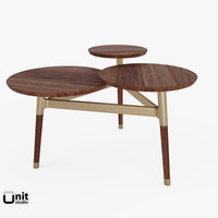 3d clover coffee table west