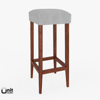 free bella bar stool dot 3d model