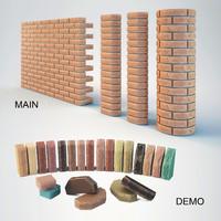 brick scaur beam 3d max