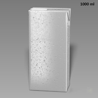 drink box slim 1000ml 3d model