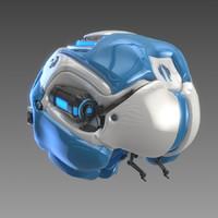 bionic brain concept c4d