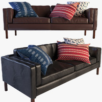 3d austin set leather sofa armchair